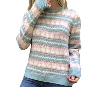 Vintage Pastel Thick Knit Sweater